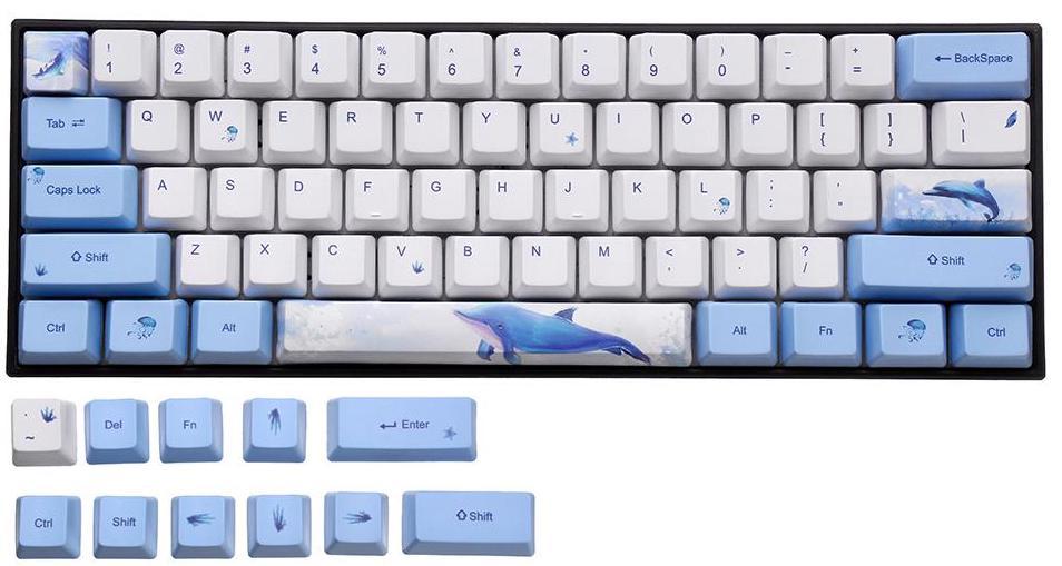イルカのテーマキーキャップセット
